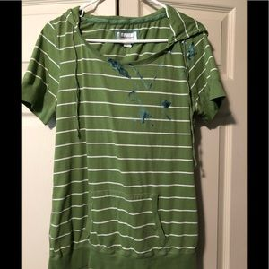 American Eagle Outfitters short sleeved hoodie